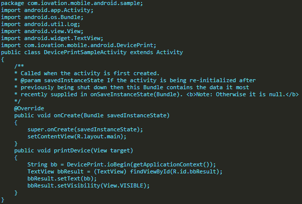 Exemplo Código